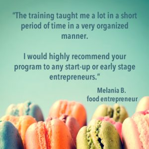 Testimonial from food entrepreneur after agrifood training