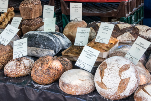 Bread for sale at a Farmers' Market